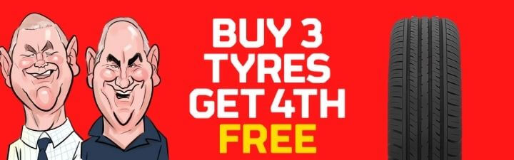 Buy 3 tyres get 4th free