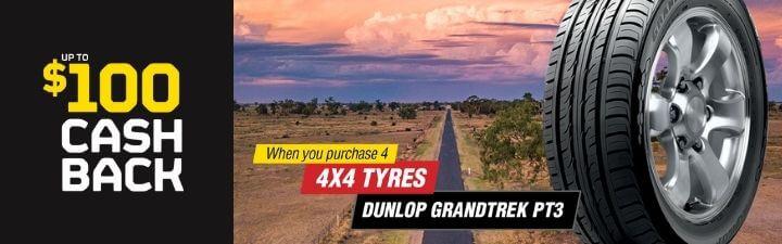 Dunlop $100 cash back