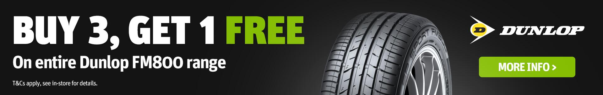 Dunlop SP Sport FM800 Buy Three Get One Free Promotion