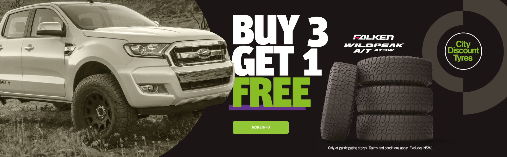 Buy 3 Get 1 Free Falken Wildpead A/T AT3W