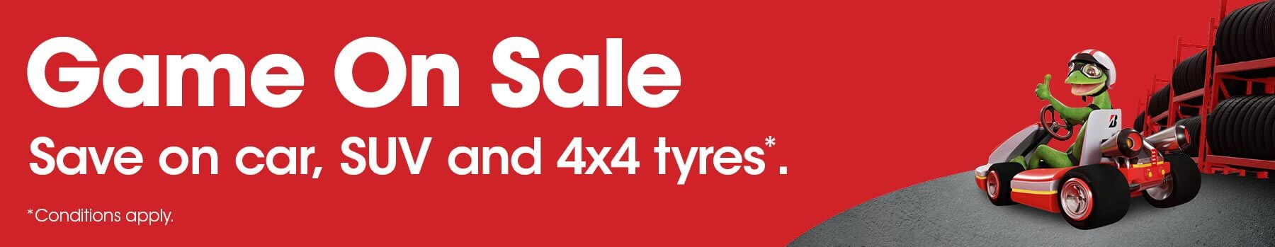 Game On Sale - Save on car, SUV and 4x4 tyres