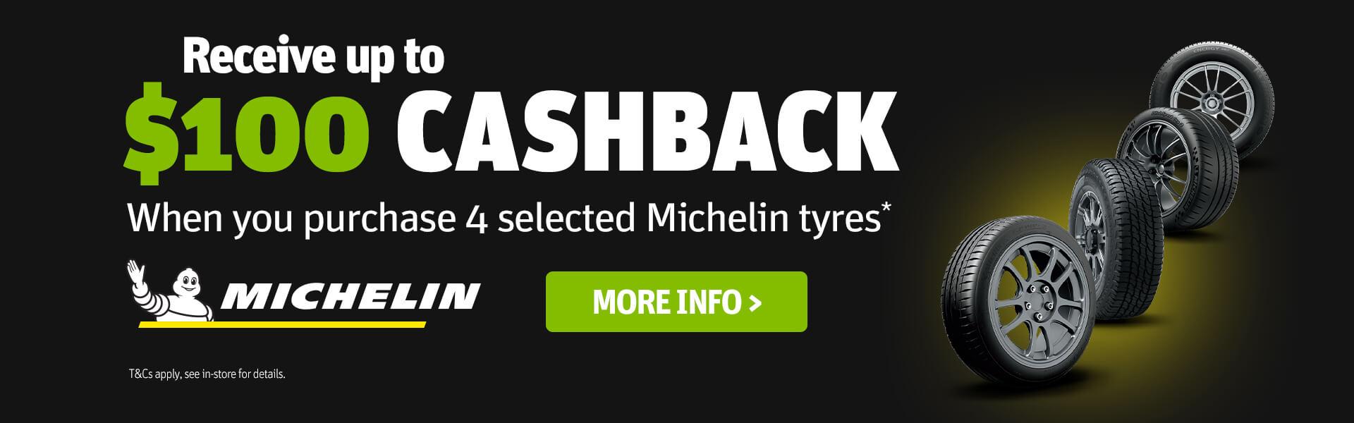 CDT - Michelin $100 Cashback promotion