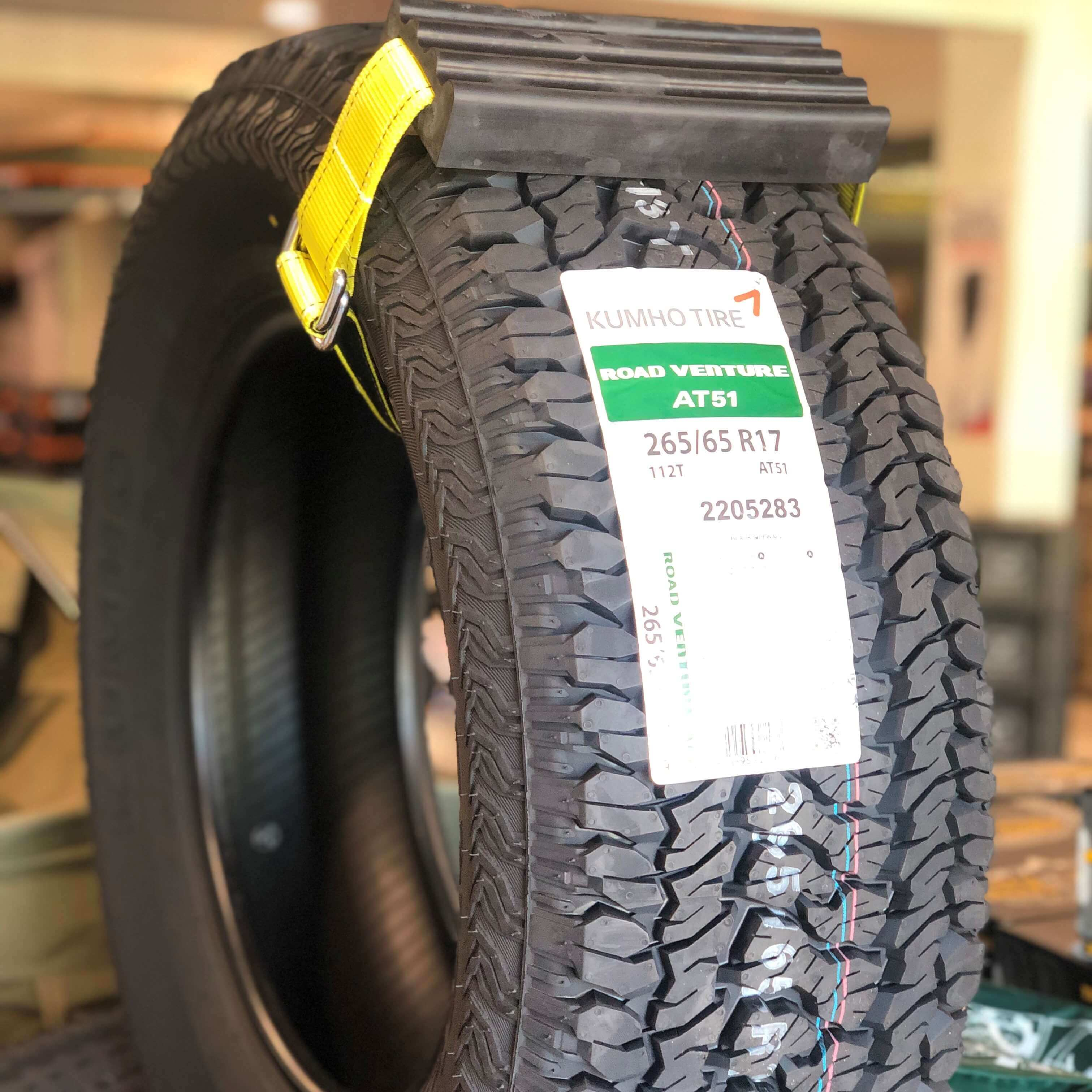 Kumho AT51 All Terrains tyres and receive a set of Gator TracGrabbers