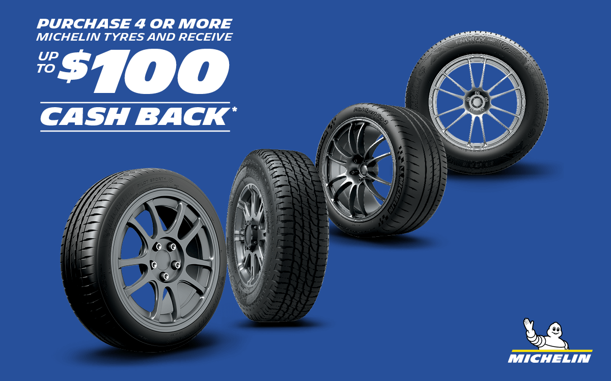 Michelin Promotion Cash Back up to $100