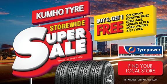 Kumho Tyre - Buy 3 Get 1 Free