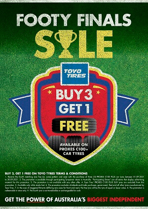 Buy 3 Get 1 Free Available on Proxes C100+ car tyres