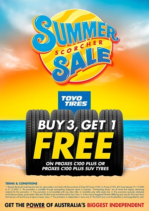 Buy 3, Get 1 Free on Proxes C100 Plus or Proxes C100 Plus SUV Tyres